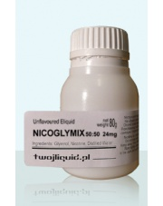 NICOGLYMIX 50:50 Unflavoured Eliquid 80g moc 24mg